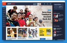 Ipoh Echo Newspaper Website layout re-design - Weekdays View
