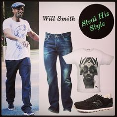 Love his style! #style #sneakers #outfit #willsmith #celebrity #graphictee #tshirt #casual #style #streetstyle #fashion #welove #actor #namshi