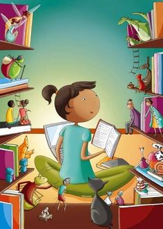Young Book Reader's Fun & Amazing Discovery----The Characters are Watching!