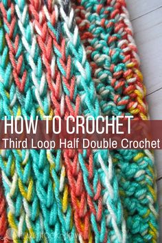 Third Loop Half Double Crochet (Video Tutorial) http://hearthookhome.com/third-loop-half-double-crochet-video-tutorial/?utm_campaign=coschedule&utm_source=pinterest&utm_medium=Ashlea%20K%20-%20Heart%2C%20Hook%2C%20Home&utm_content=Third%20Loop%20Half%20Double%20Crochet%20%28Video%20Tutorial%29