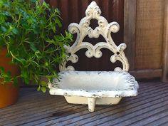Shabby Chic Cream / Soap Dish / Rustic Wedding by AlacartCreations