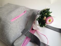 Shopper - very soft Loden made from Merinowool, the perfect bag