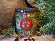 1902 Chase & Sanborns Antique Coffee Tin by prairieantiques