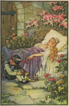 Sleeping Beauty -- Clara M. Burd -- Fairytale Illustration-She worked for several magazines of the period, including Woman's Home Companion, Woman's world, Literary Digest, Modern Priscilla, etc.