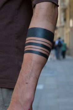solid arm wrist band tattoos - Google Search
