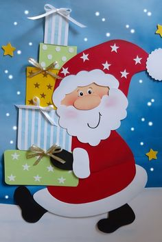Christmas Art For Kids, Christmas Decorations For Kids, Christmas Paper Crafts, Winter Crafts For Kids, Christmas Drawing, Summer Crafts, Christmas Time, Birthday Chart Classroom, Vegetable Cartoon