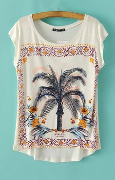 Beach Club Coconut Tree T-Shirt – Trendy Road