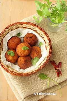 aloo kofta / potato kofta curry or dumplings in tangy tomato – yogurt sauce