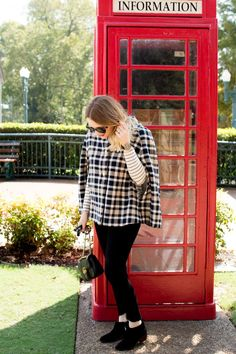 Fall Look with Draper James Cape - Pretty in Pink Megan