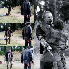 this was such a fantastic scene. michael rooker and norman reedus did an awesome job. actually michael rooker was fantastic in the entire episode. can't believe how he managed to turn the tide of audience emotion toward Merle in ONE episode. found myself sad to see him go. mark of a true actor great at his craft. ~AK(me)