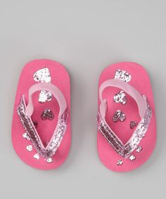 Love this Pink & Fuchsia Sparkle Flip-Flop by Tender Toes on #zulily! #zulilyfinds