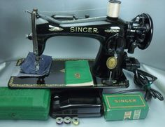 This is a Beautiful, 1952 Singer Model 15-91 Direct Drive, Sewing Machine(serial #-AK824296), which is a Heavy Duty/Industrial Strength and can Sew Leather, Vinyl and other heavy materials as well as the lightest fabrics(this will NOT sew through Heavy Leather, such as horse tack. ). | eBay!