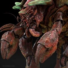 Crab Creature, Yuuki Morita on ArtStation at… Creature 3d, Creature Concept, Creature Feature, Creature Design, Alien Creatures, Fantasy Creatures, Sea Creatures, Aliens, Crab Art
