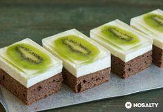 Kivis-túrós kocka Baking Recipes, Cake Recipes, Dessert Recipes, Romanian Desserts, Sweet Cookies, Hungarian Recipes, Cake Bars, Sweet Tarts, Food Cakes