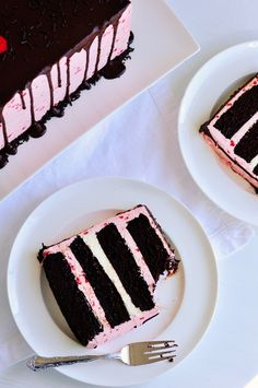 Dark Chocolate & Raspberry Buttercream Cake with Ganache Drizzle||Sweetopolita