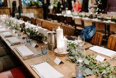 Long Table Greenery Foliage Candles Runner NYE Wedding Ellie Gillard Photography #LongTable #Greenery #Foliage #Candles #TableRunner #Wedding