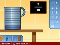 representación de fracciones, juego online