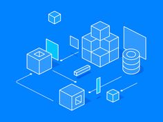 Blue isometric designed by Maryia. Connect with them on Dribbble; the global community for designers and creative professionals. Isometric Art, Isometric Design, Vector Graphics, Vector Art, Motion Graphics, Technical Illustration, Graphic Design Illustration, Design Sites, Web Design