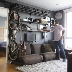 Beautiful storage for city living aka I live in a shoe box pay $1millions/month so where do i store my bike?!