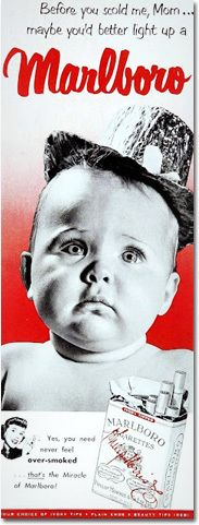 The 13 Most Disturbing Vintage Ads for Household Products | 1950s Marlboro Ad