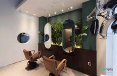 울산인테리어 티디컴퍼니/청록색으로 여성미와고급스러움을 소형미용실인테리어 : 네이버 블로그 Hair Salon Interior, Salon Interior Design, Salon Design, Hair And Nail Salon, Beauty Salon Decor, Spa Design, Hair Shop, Beauty Shop, Beauty Bar