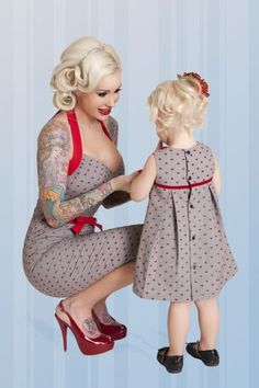 Lil Anchor dresses for mom and daughter! I need these for Cadence and me.