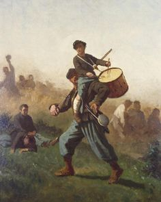This #MemorialDay, we remember the men and women who died serving our country with #EastmanJohnson's dramatic scene from the Civil War. The artist drew his inspiration from an incident that reportedly occurred during the Battle of Antietam (1862) in which an injured drummer boy asked a comrade to carry him so that he could continue drumming his unit forward. The emblematic image of a heroic youth literally rising above the chaos of the battlefield resonated deeply with Northern audiences…