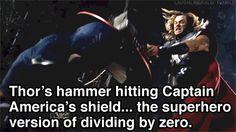 Superhero equivalent of dividing by zero