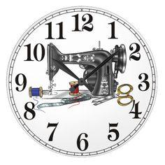 Sewing Machine Large Clock