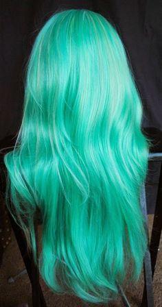 cabello colores fantasia verde - Buscar con Google
