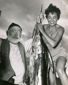 Inge Feltrinelli & Ernest Hemingway