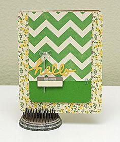 Hello Beautiful Card by Summer Fullerton via Jillibean Soup Blog
