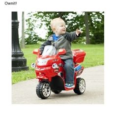 Kids Electric Motorcycle Power Wheels Bike 3 Red Battery Powered Ride On Toy New #lilrider