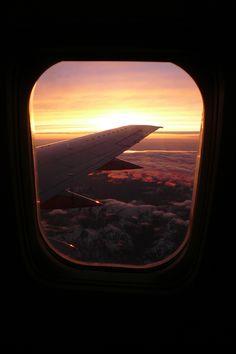 canislupvs:  Airplane window – by: iamkimiam