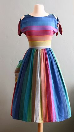rainbow bright!  Vintage Fashion | Best Vintage Clothing | Lux & Concord, a lifestyle blog in Boston and ...
