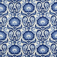 Golding Grand Ikat Blue Fabric - By the Yard Online Fabric Store $8.99/yard