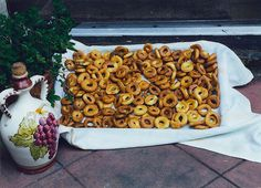 Taralli from Puglia, Italy. In the book: ©Sins Of A Queen by Valentina Cirasola.