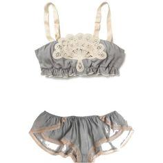 grey lace underwear set <3