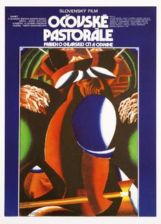 abstract movie poster designed by Milan Laluha accompanying screenings A Pastoral Of Očová, 1973. Check out our podcast https://www.facebook.com/ScreenWolf and https://twitter.com/screen_wolf