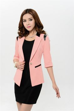 One button Fromal Casual Suits Women Uniform Business Coat with ...