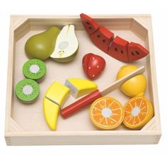 Woody Krájení na prkénku - ovoce s melounem Plastic Cutting Board, Fruit, Gifts, Spy, Montessori, Gift Ideas, Amazon, Products, Dramatic Play
