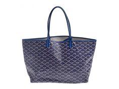 Auth pre owned Goyard Saint Louis PM PVC Blue Tote Bag #Goyard #TotesShoppers