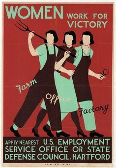 """Hundreds of artifacts are included in the displays, including vintage posters such as """"Women Work for Victory,"""" part of a 1942-44 campaign to rally women to war work. There's also a complete 1980s kitchen"""