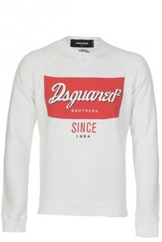 Dsquared Pop Art Logo Sweatshirt White » Men's Designer Clothing & Brands Designer Clothes For Men, Designer Clothing, Circle Fashion, Dope Clothes, Dope Outfits, Art Logo, White Man, Pop Art, Sweatshirts