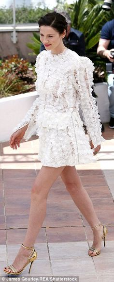 Amal Clooney shows off her lithe legs in gorgeous thigh-split gown as she supports husband George at Money Monster premiere during Cannes Film Festival | Daily Mail Online