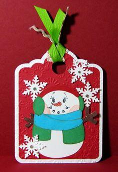 Pause Dream Enjoy: Christmas Tag: Snowman 2