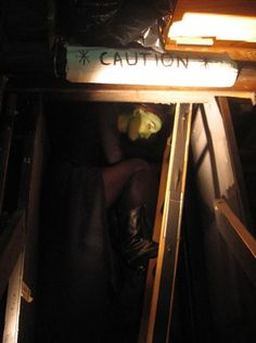 Amazing shot! -------> Elphaba hanging out after she got melted!