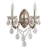 Applique Crystal Argent 2x60W Boutica-Design