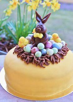 Recipe dessert no eggs 21 Super Ideas Easter Cake Easy, Easter Treats, Easter Recipes, Dessert Recipes, Chocolate Easter Cake, Peter Rabbit Cake, Spring Cake, Swedish Recipes, Bagan