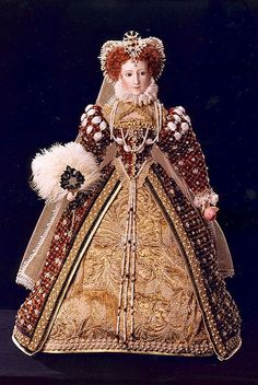 Queen Elizabeth/Historical Doll. Wow -what a collection of royal portrait dolls lies behind this link.